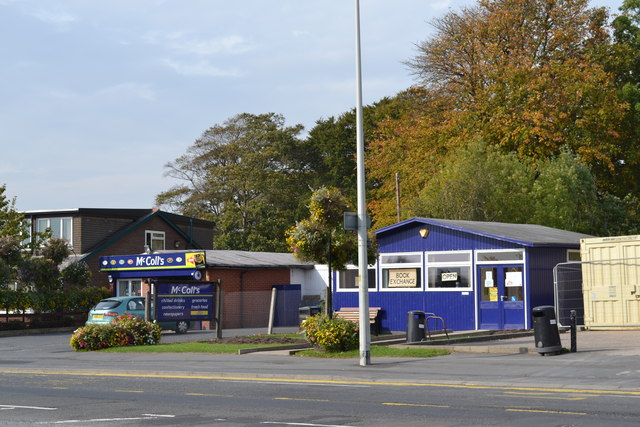 McColls and (former) Library, Lytham Road, Warton, near Preston - 1