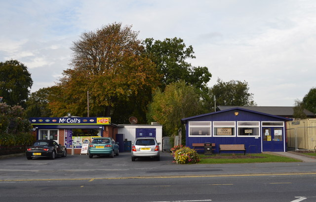 McColls and (former) Library, Lytham Road, Warton, near Preston - 2