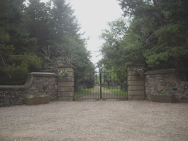 Gated driveway to Cabrach House