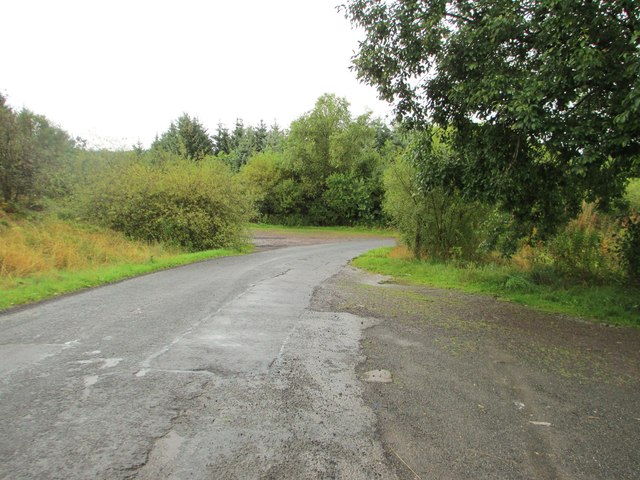 The road and parking area at Loch Ettrick