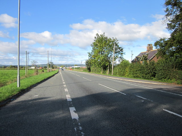 The A5104 (Chester Road), Saltney
