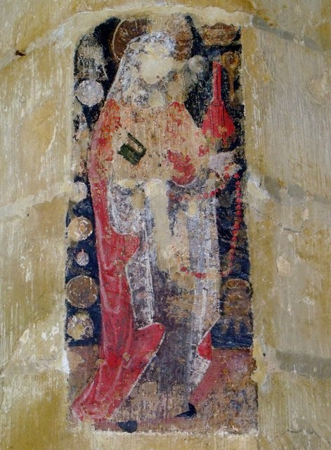 Wall painting, St Etheldreda's, Horley