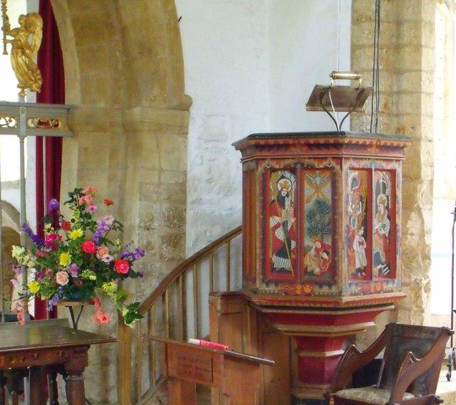 Pulpit, St. Eltheldreda's, Horley
