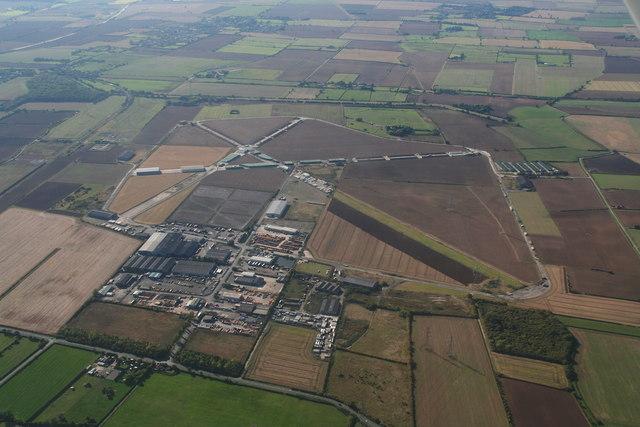 Former R.A.F. North Killingholme airfield: aerial 2013