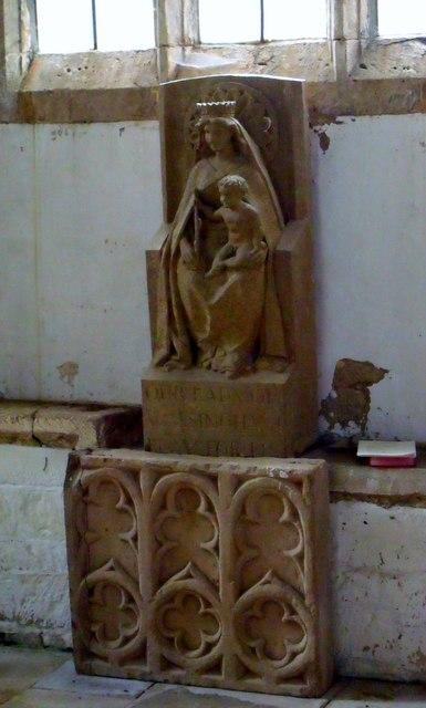 Statue, St Etheldreda's, Horley