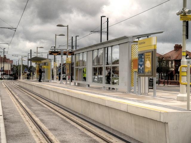 Metrolink Stop at Audenshaw