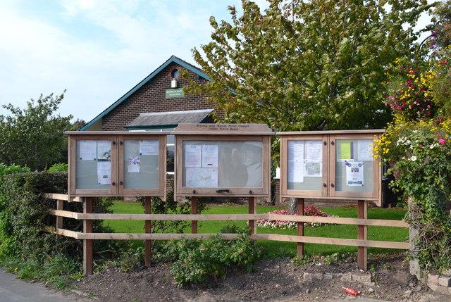 Parish Notice Boards at Warton Village Hall, Lytham Road, Warton, near Preston
