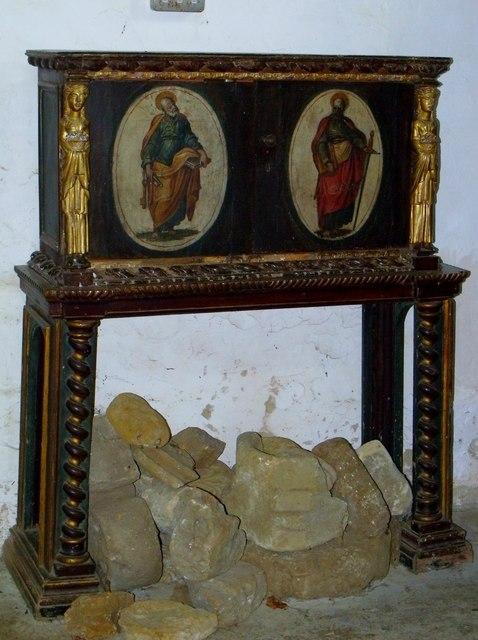 Book cabinet, St Etheldreda's, Horley
