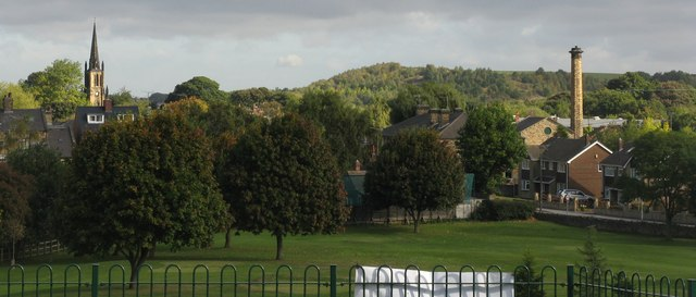Elsecar village, as seen from Elsecar park. Photo (c) Dave Pickersgill.