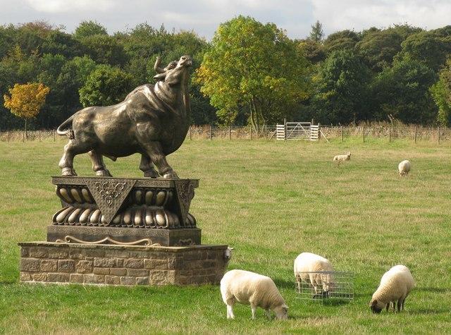 Statue at Parkside Farm Shop