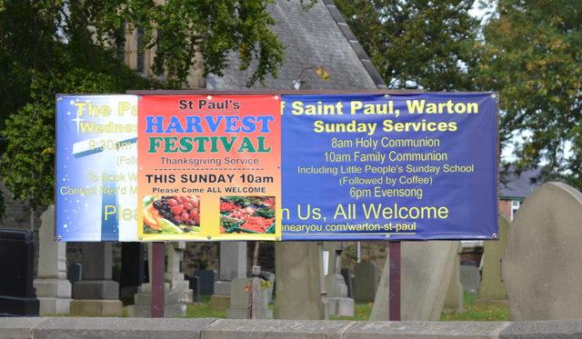 What's On at St Paul's Church, Church Road, Warton, near Preston