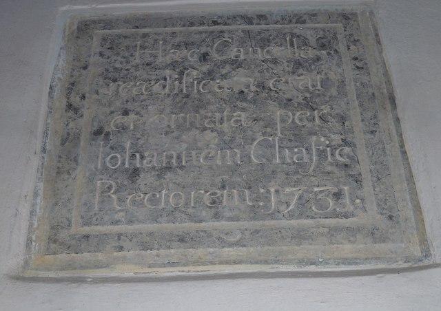 St. Peter, Purse Caundle: memorial (VI)