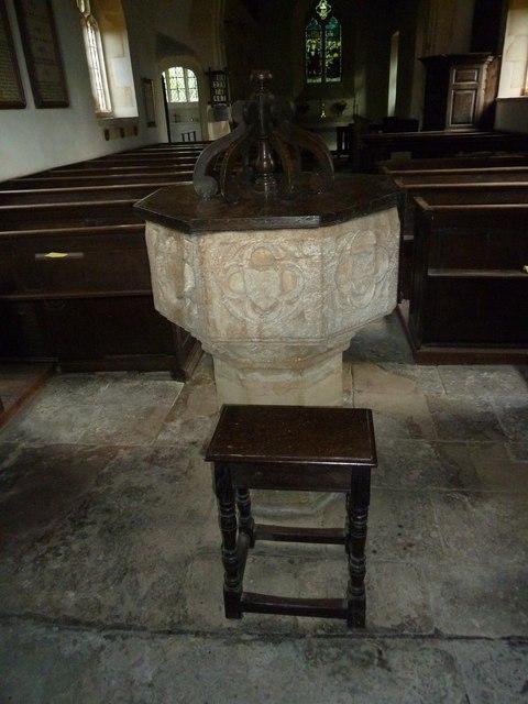 St. Peter, Purse Caundle: font