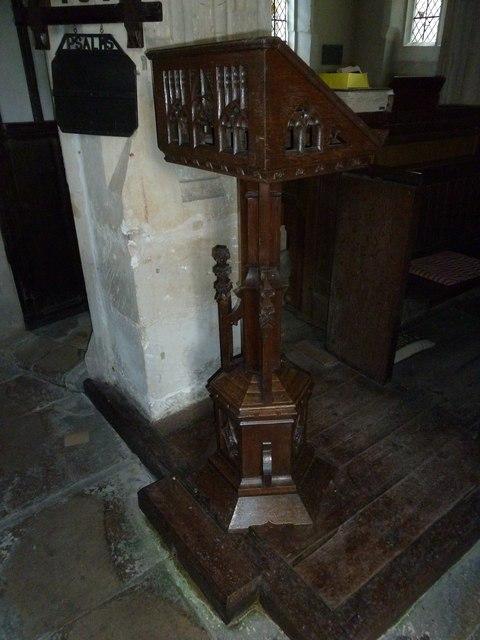 St. Peter, Purse Caundle: lectern