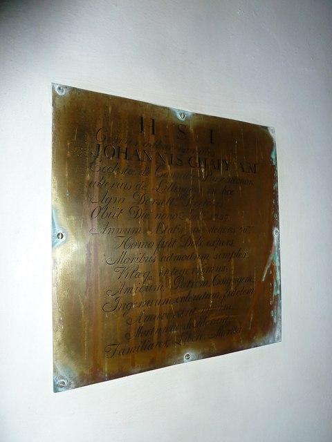 St. Peter, Purse Caundle: memorial (VIII)