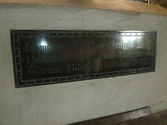 St Peter, Purse Caundle: Memorial (X)