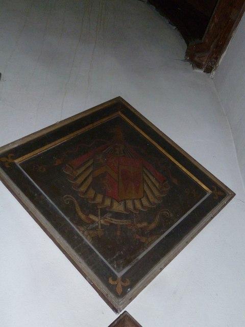 St Peter, Purse Caundle: hatchment