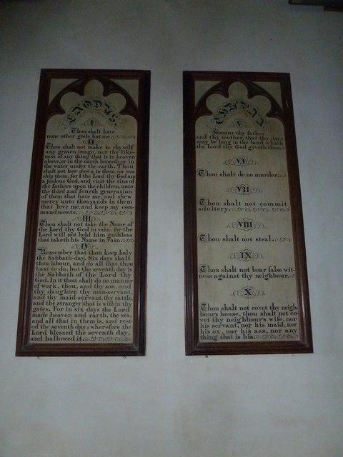 St Peter, Purse Caundle: The Ten Commandments