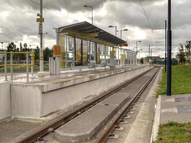 Metrolink East Manchester Extension, The Ashton Moss  Tram Stop