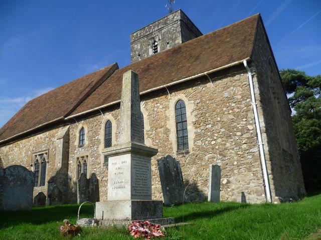 St Michael's Church, Offham and its war memorial