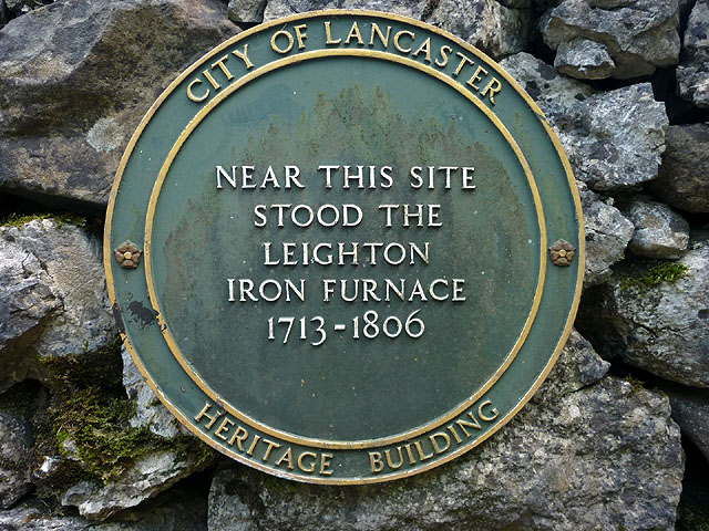 Plaque for Leighton iron furnace