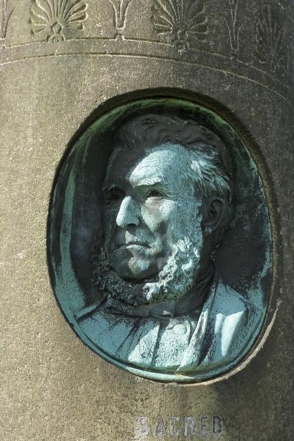 Memorial to John Stark: portrait detail