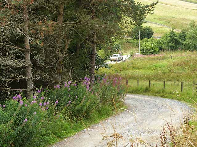 Farm road to Garvald