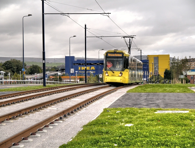 Tram Approaching Ashton West