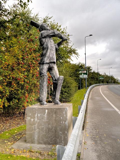 Cricket Sculpture, Lord Sheldon Way