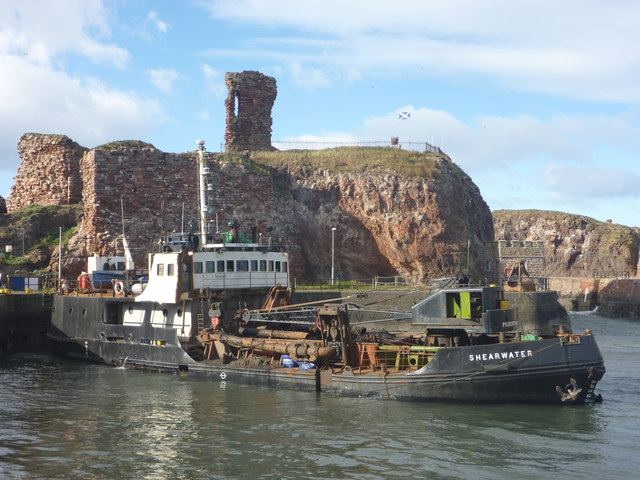 Coastal East Lothian : MV Shearwater At Victoria Harbour, Dunbar