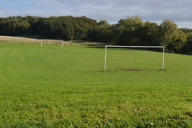Football pitch in the Brindley Valley