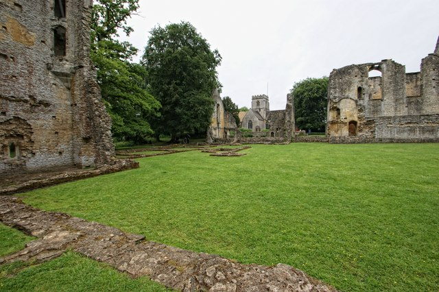 The ruins of Minster Lovell Hall and the Church, Minster Lovell