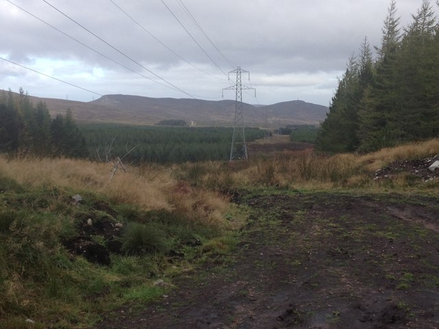 Electricity transmission lines near Strath Rory