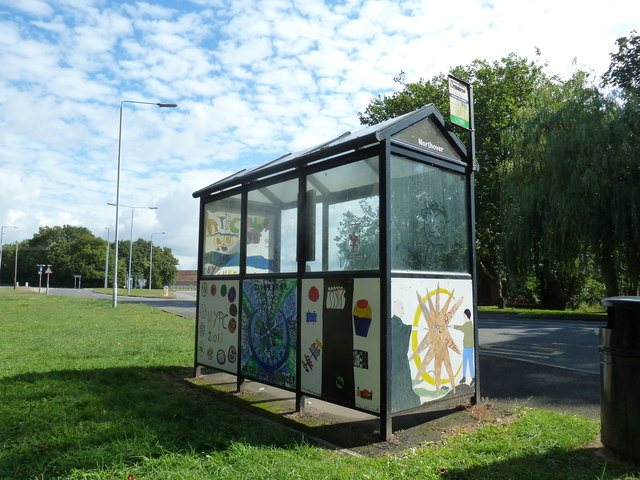 Bus stop outside Northover Church