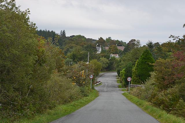 The Elgol road leaving Broadford