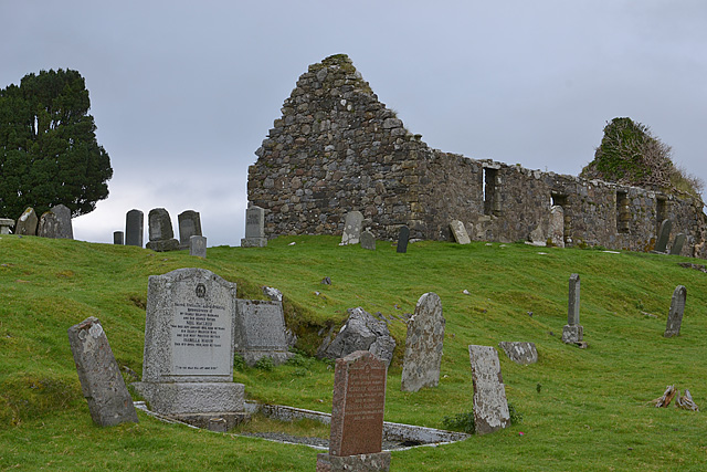 Ruined church and graveyard at Kilchrist