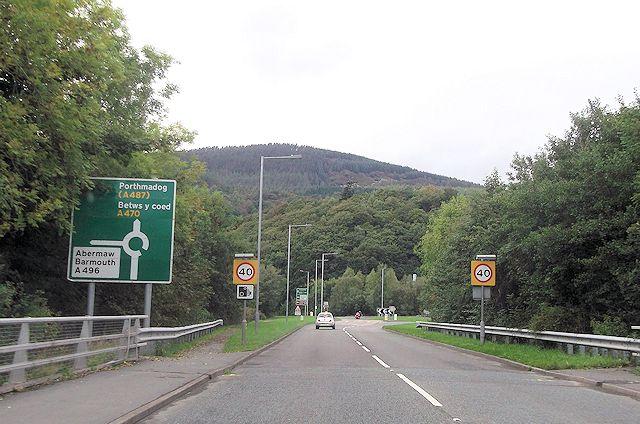 A470 from Mawddach bridge