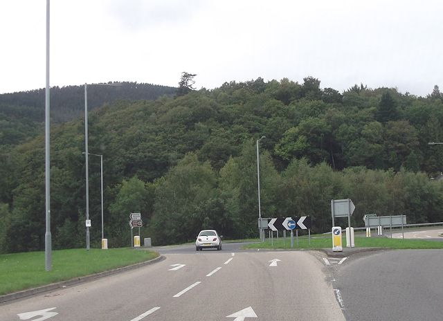 Llaneltyd roundabout from A470