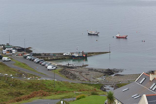 Boats in Port na Cullaidh