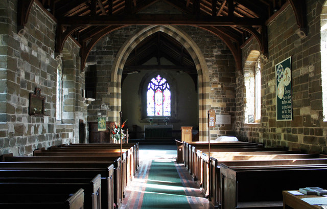 Interior, St Mary's church, Manby