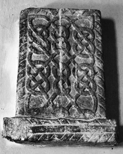 Anglo Saxon slab, St Mary's church