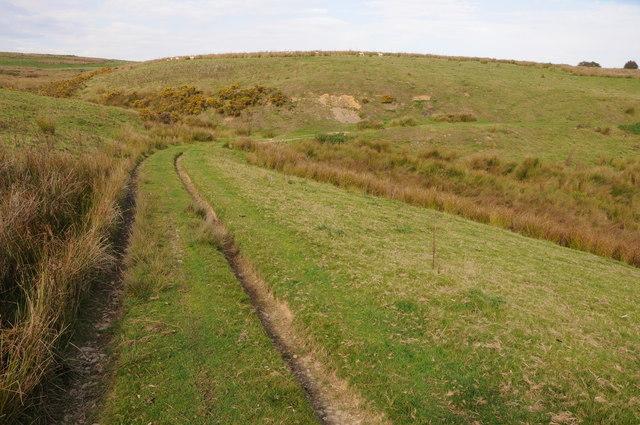 Track across upland grazing