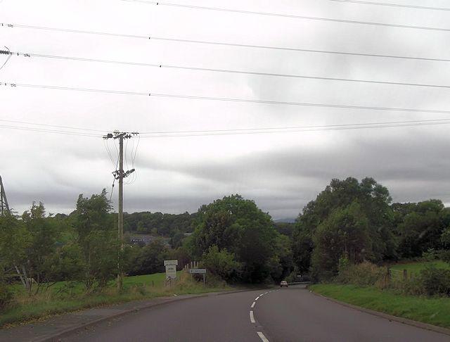 A487 at power lines near Gellilydan turning