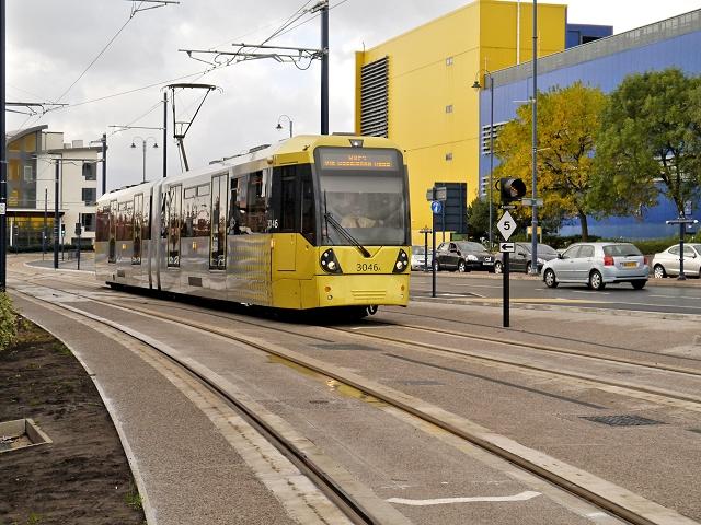 Tram Approaching Ashton