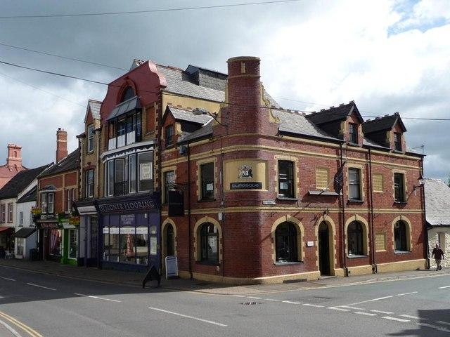 Pub and shops, Usk