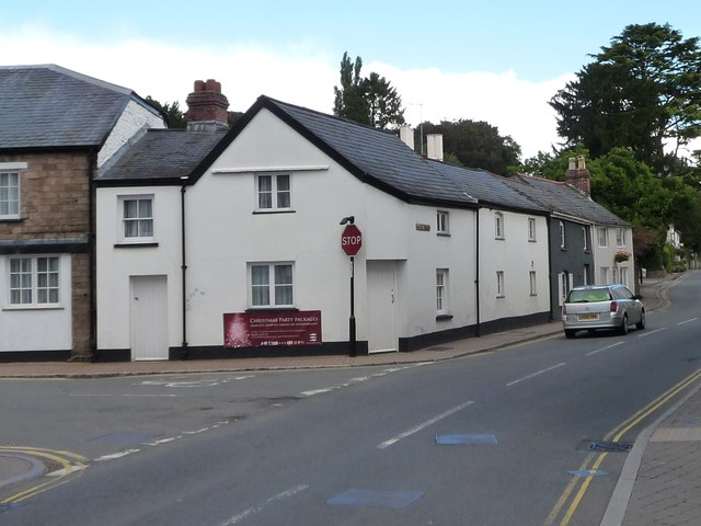Junction of Castle Parade and Porthycarne Street