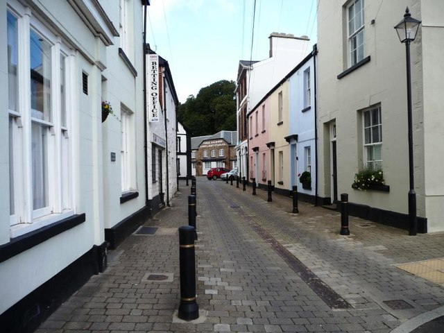 The northern end of Maryport Street, Usk
