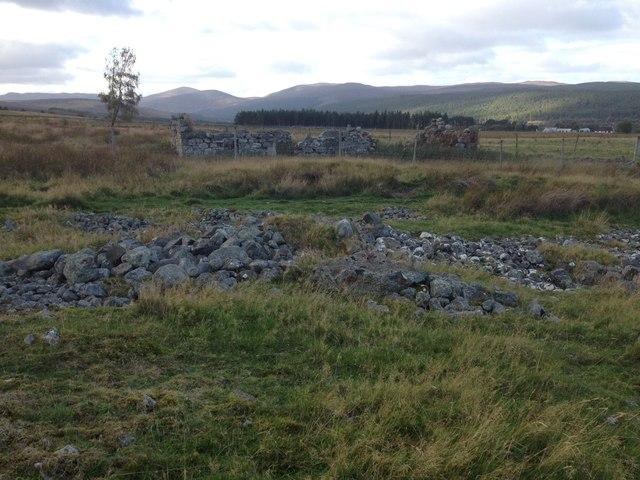 Ruined buildings near Gledfield
