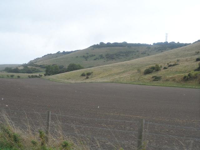 Downs near to Tottington Manor Hotel
