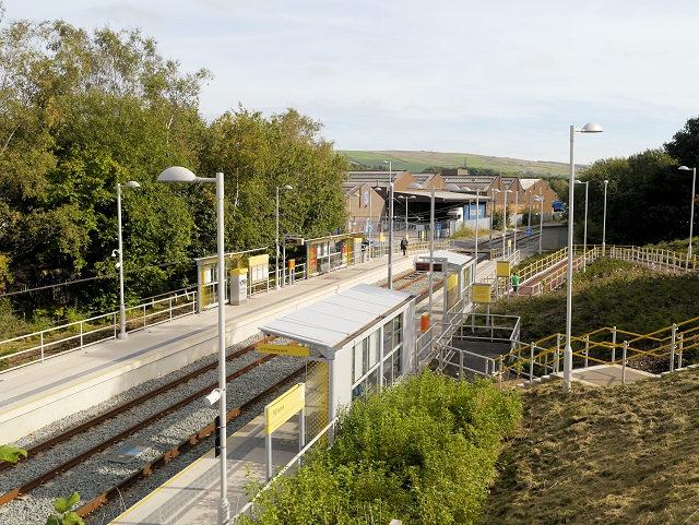 Metrolink Station at Milnrow